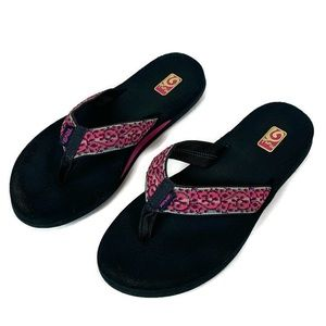 Teva Pink Mush Flip Flop Slip On Sandals